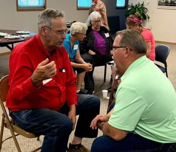 During one of the training sessions at FBC Valentine, partners practiced sharing their current reality stories. A current reality story is one where we tell what God is doing right now in our lives. On the right is Scott McClellen, pastor of the Valentine Berean Fellowship Church.