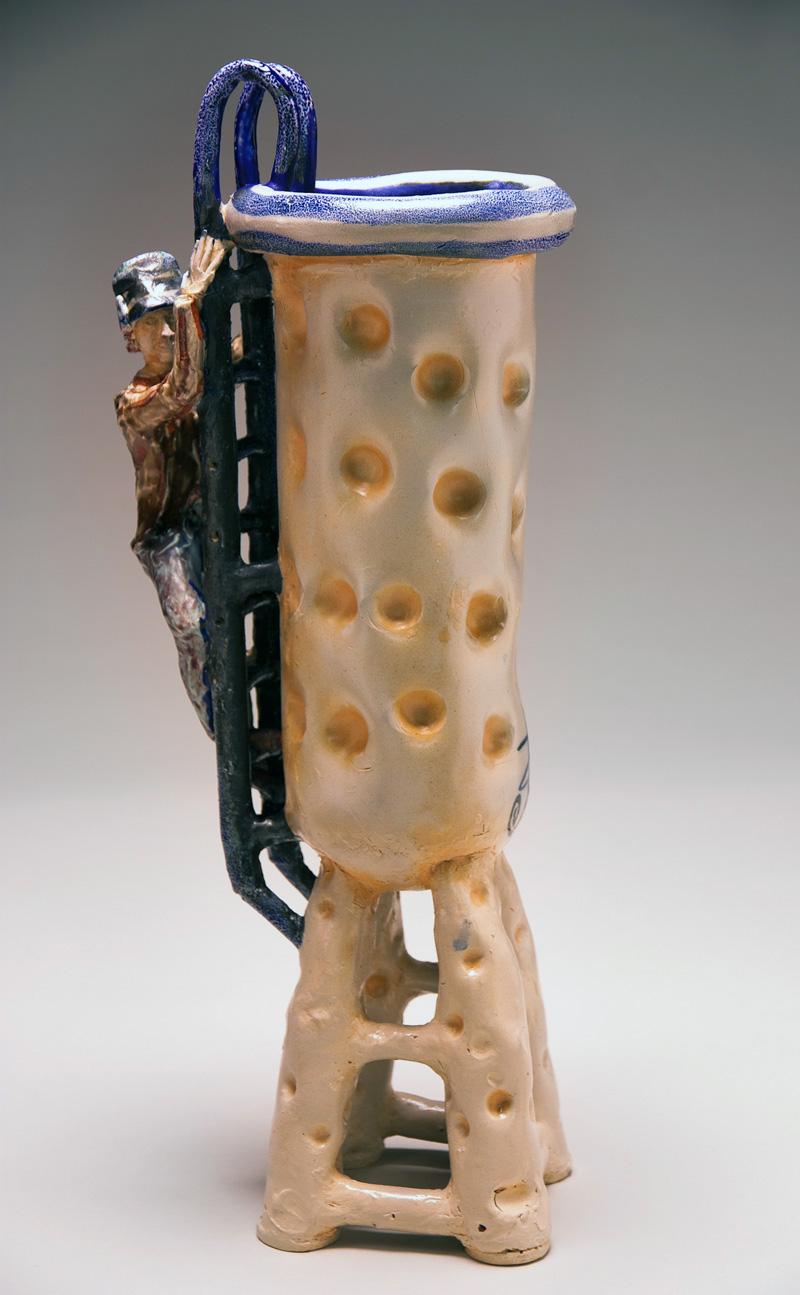 Man on Ladder Vase, 2012