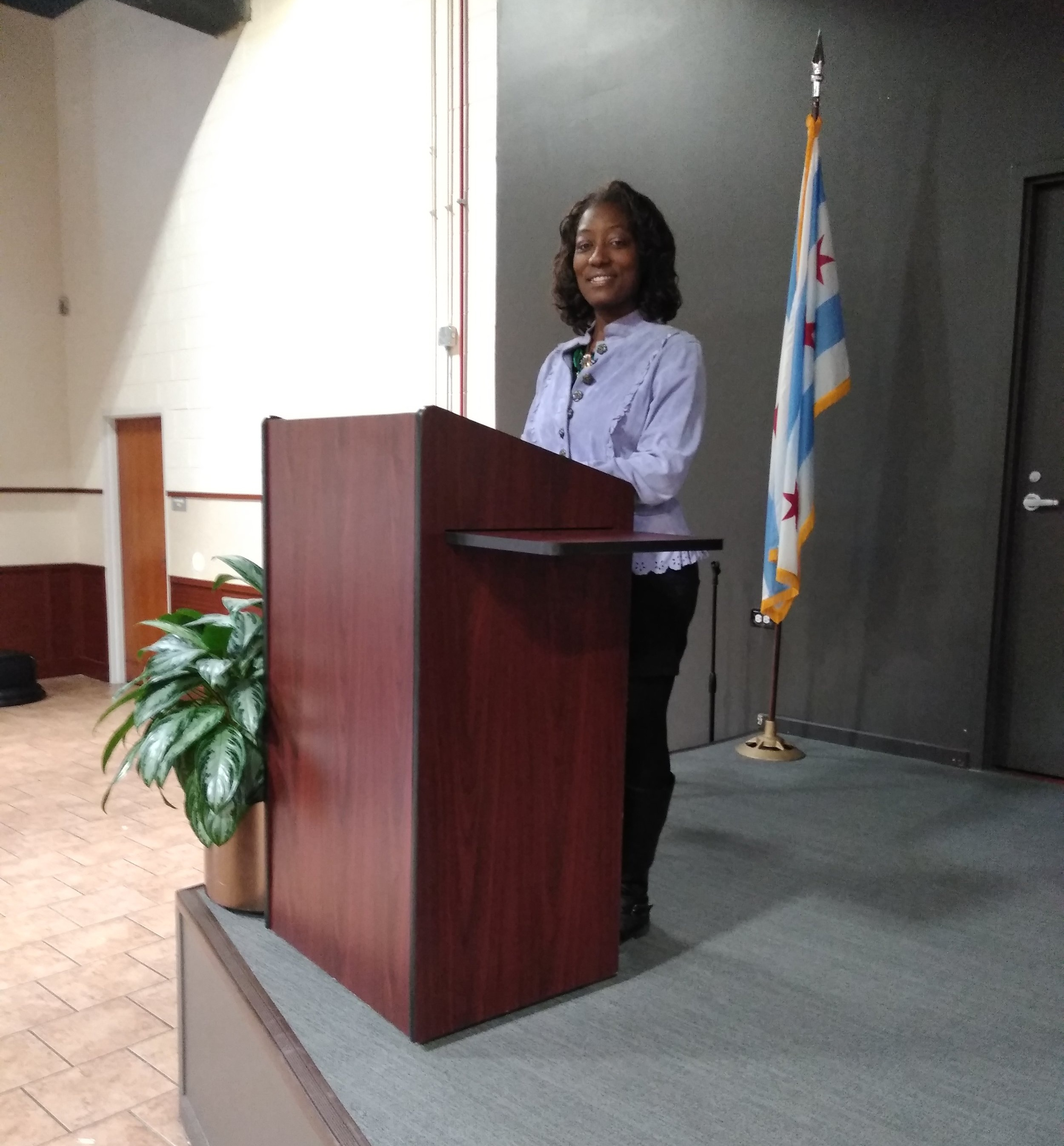 Kenya Renee - Speaking to and encouraging families and graduates of the Heartland Alliance Family Self Sufficiency Program. December 2018