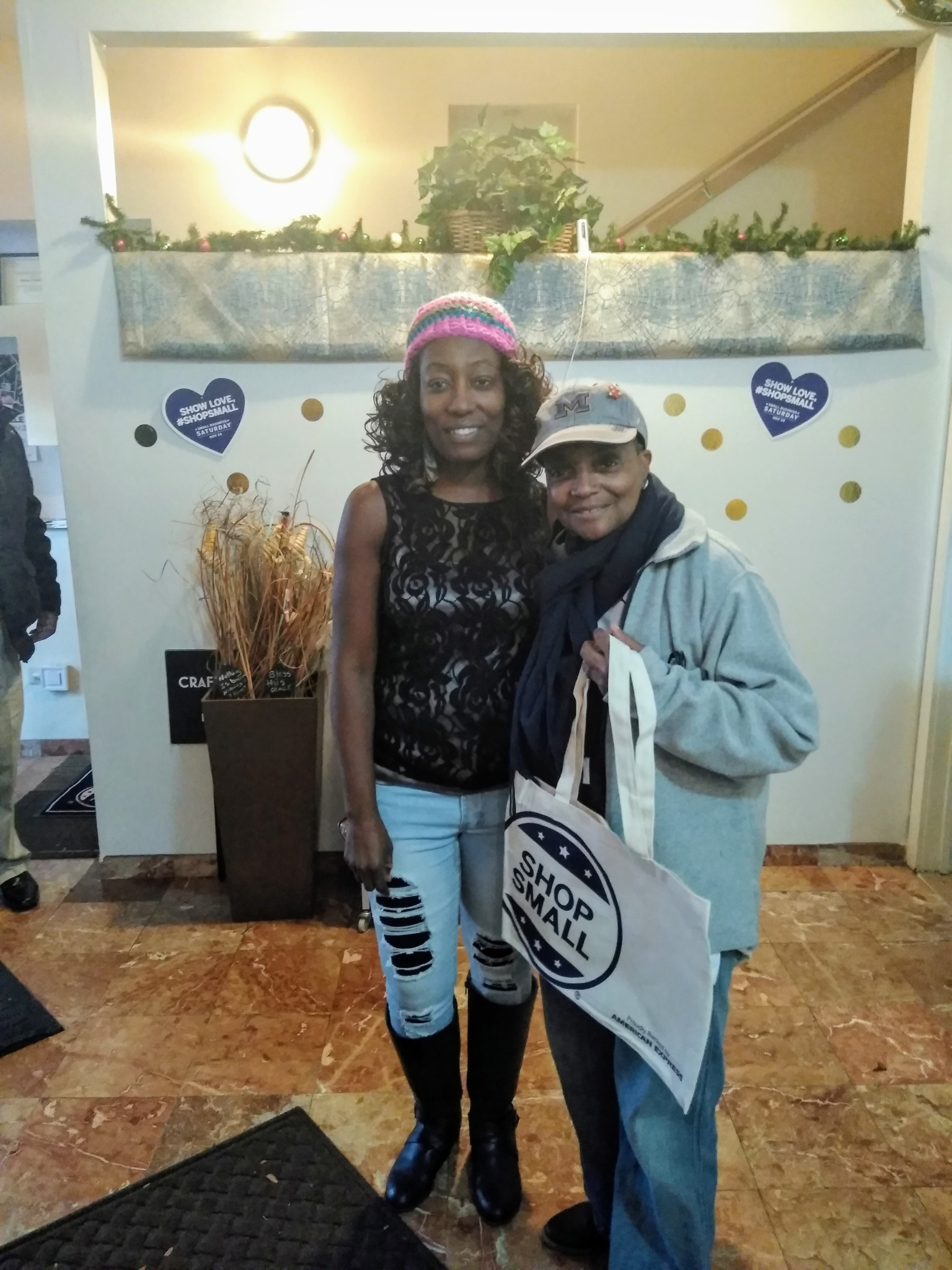Mayor Lori Lightfoot, stops by the Absolutely Anything Essential Gift Shop in Bronzeville in support of our 3rd annual Small Business Saturday Shopping and Craft Fair.