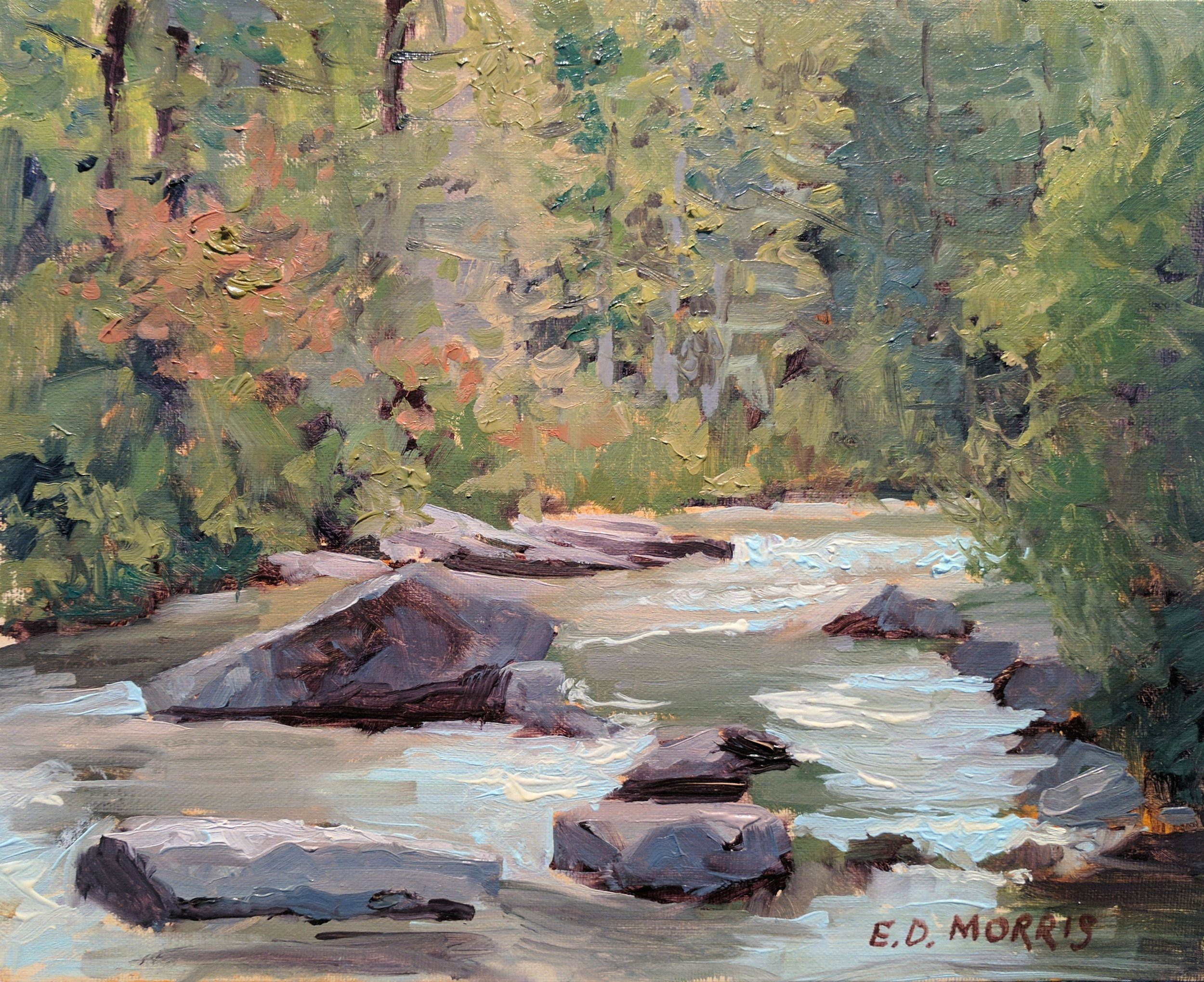 Spring - Little River (plein air)