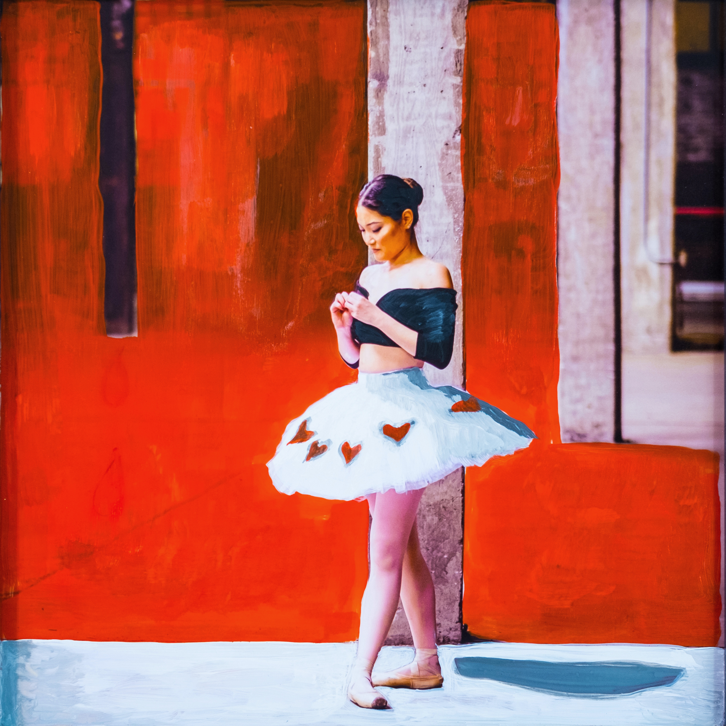 #15 BALLERINA  (SOLD)  oil, acrylic and uv ink on fine art photo paper