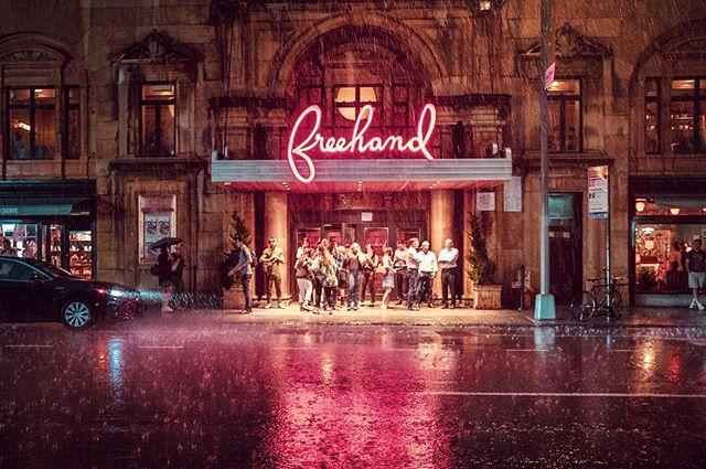 When it rains it pours #storm #summerstorm #summer #newyork #fujifilm #street #rain #freehand