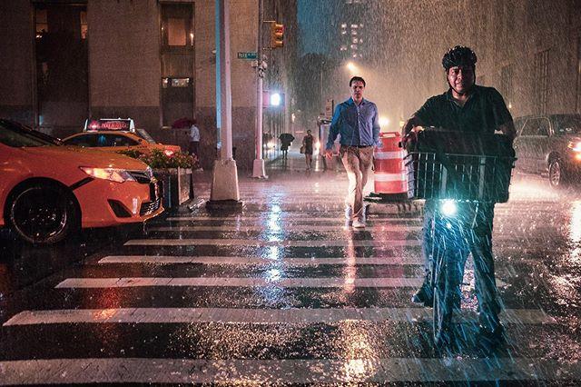 When it rains it pours #storm #summer #newyork #fujifilm #delivery #manhattan