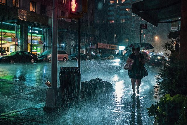 When it rains it pours #storm #summer #newyork #fujifilm #umbrella #manhattan