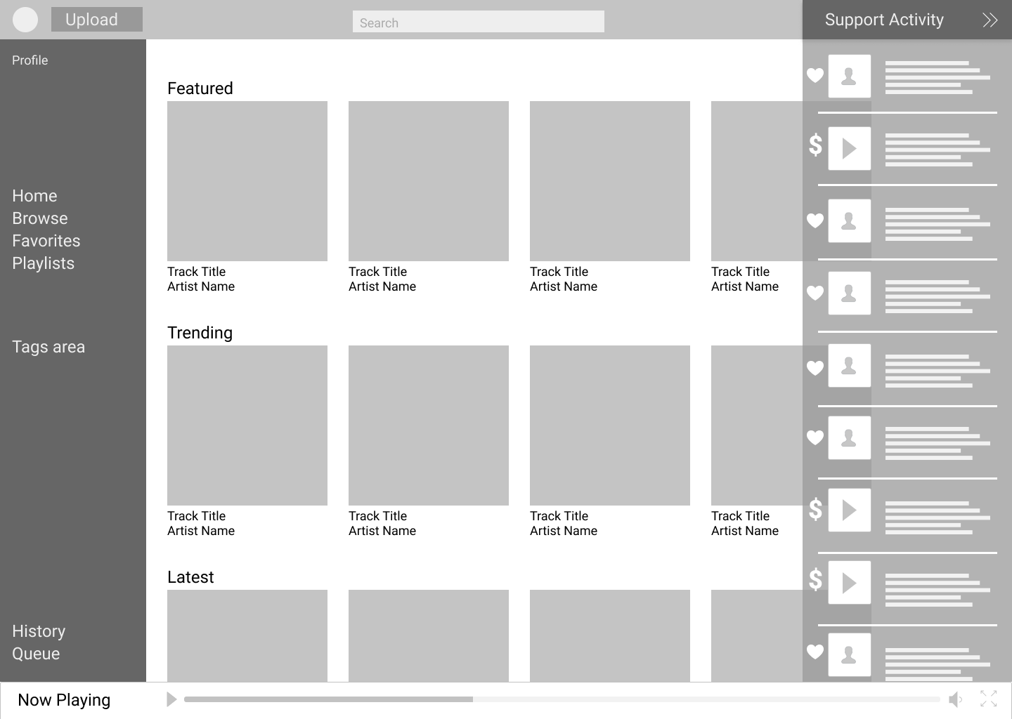 Copy of home with activity tab