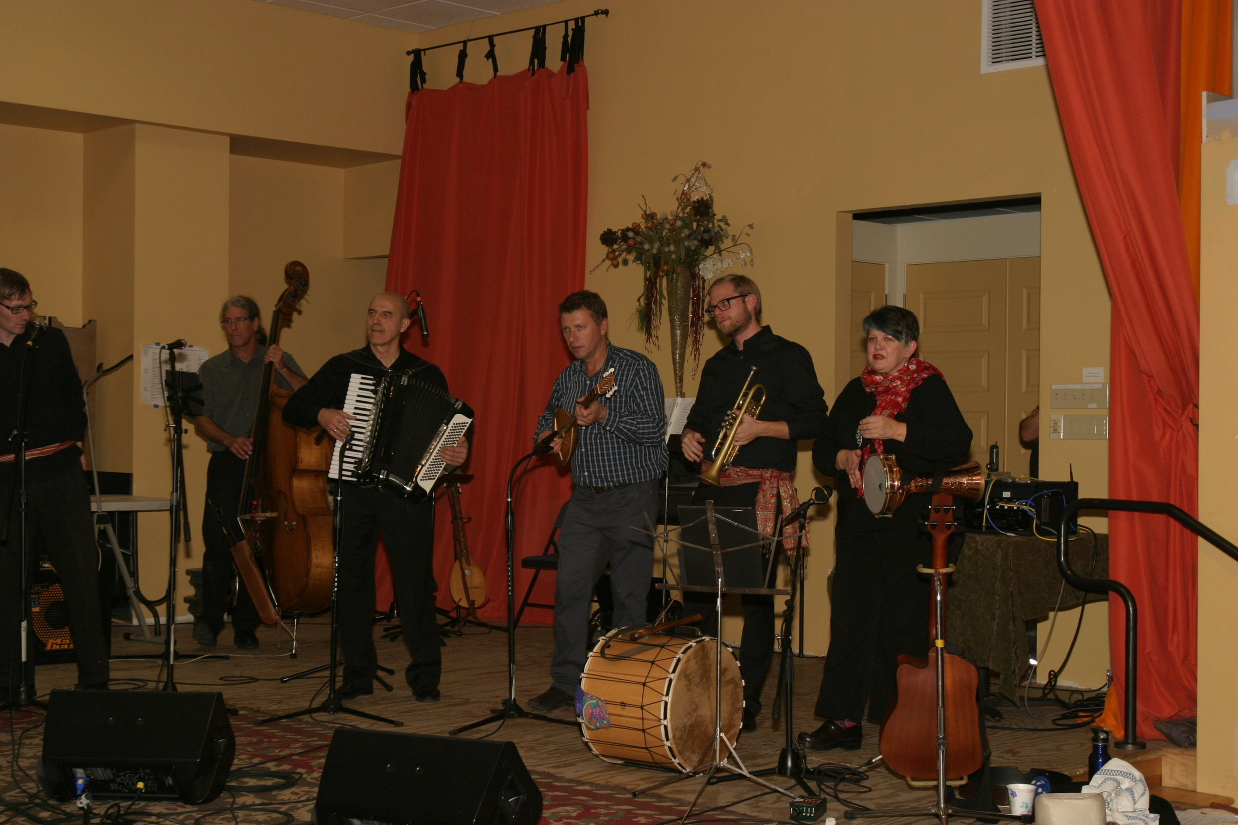 Boulder Balkan Bash 2016: Some Planina members and guest artists