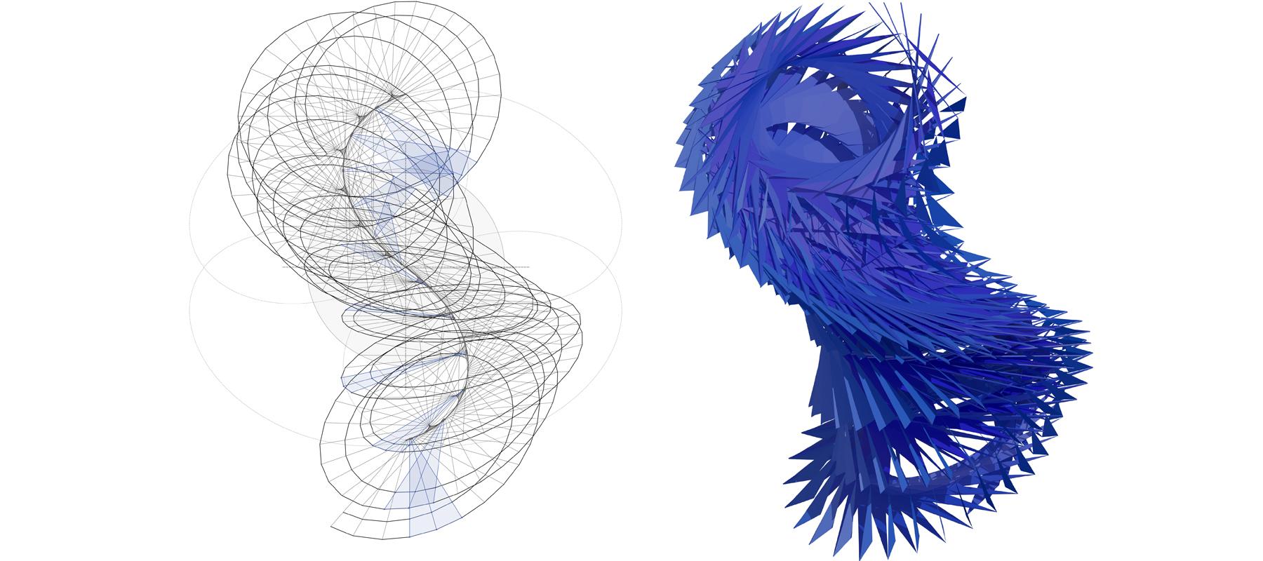 ................ geometry diagram / top view ................