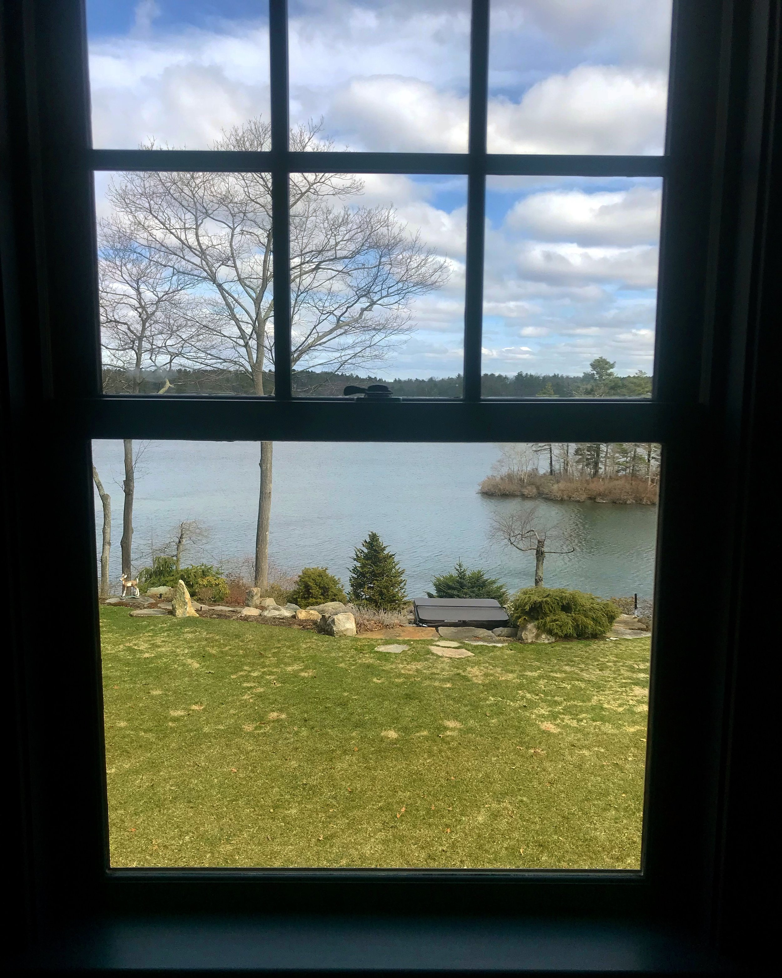 Farm Pond, view from our writer's room