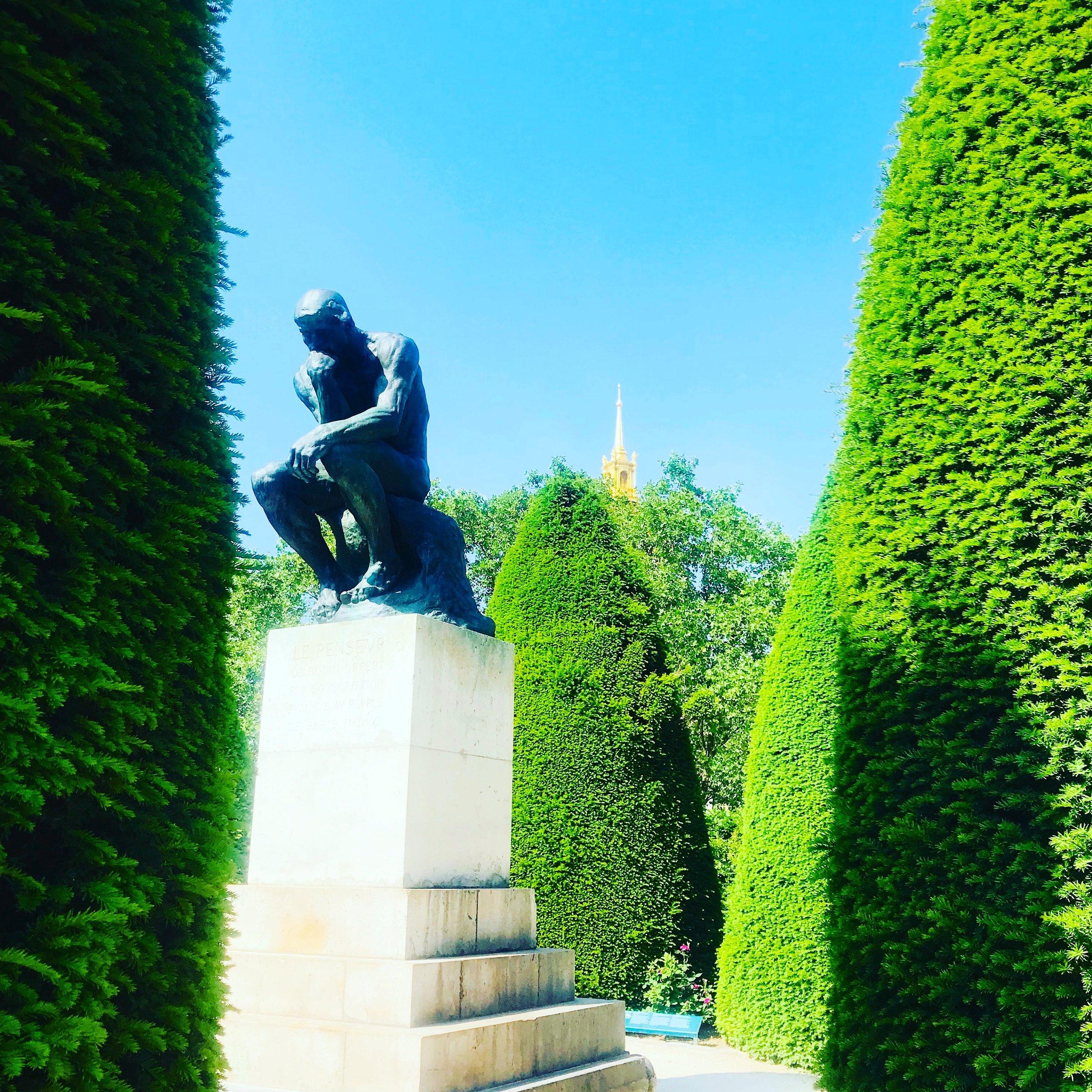 """Rodin Museum, Sculpture Garden, """"The Thinker"""""""