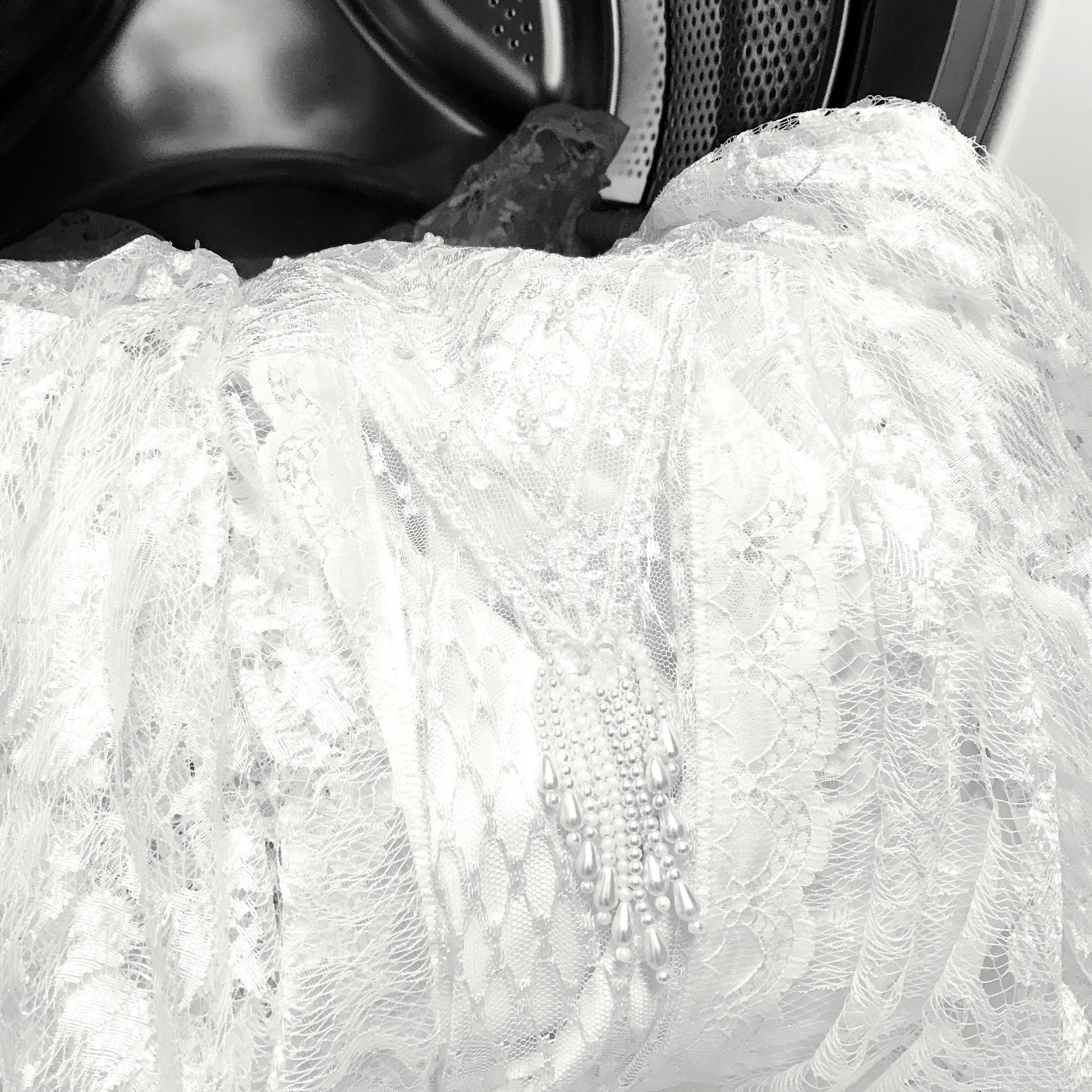 Washing the dress