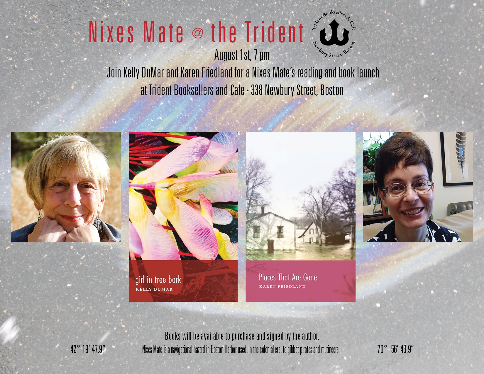 http://www.kellydumar.com/kellys-news-blog/tag/Trident+Booksellers+events