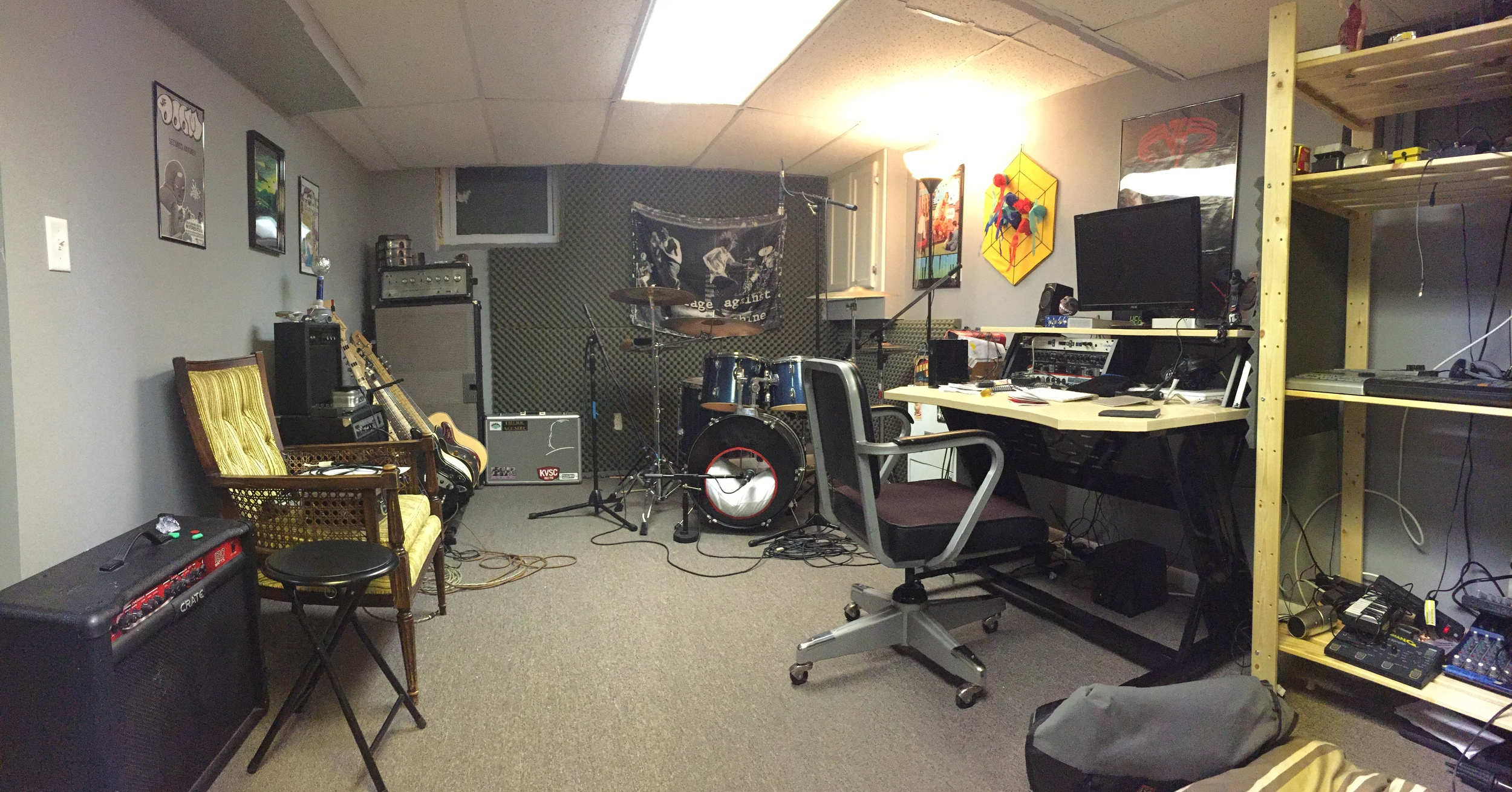The gear has changed, but this was the view during the the recording process