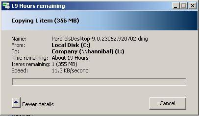 Slow file transfer