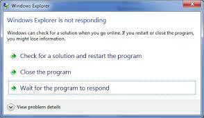 Windows Explorer - Not Responding