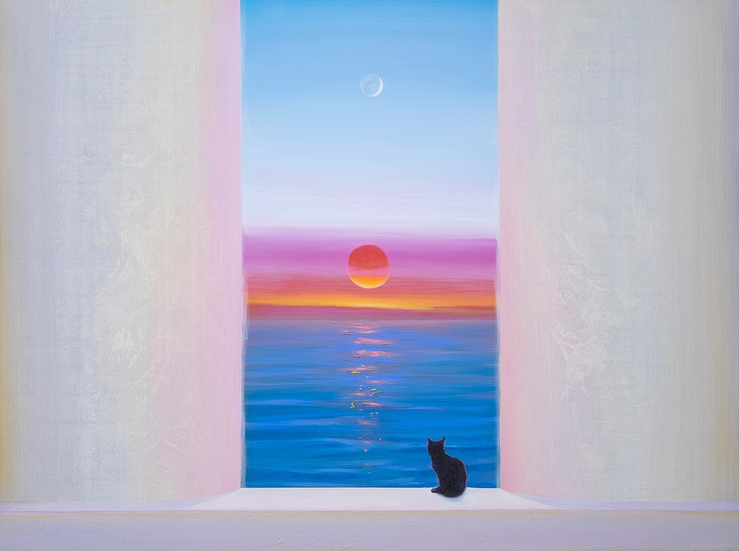 Evening with Sun, Moon and Cat