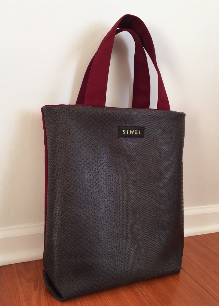 Grey Leather Tote Shopper Handbag.jpg