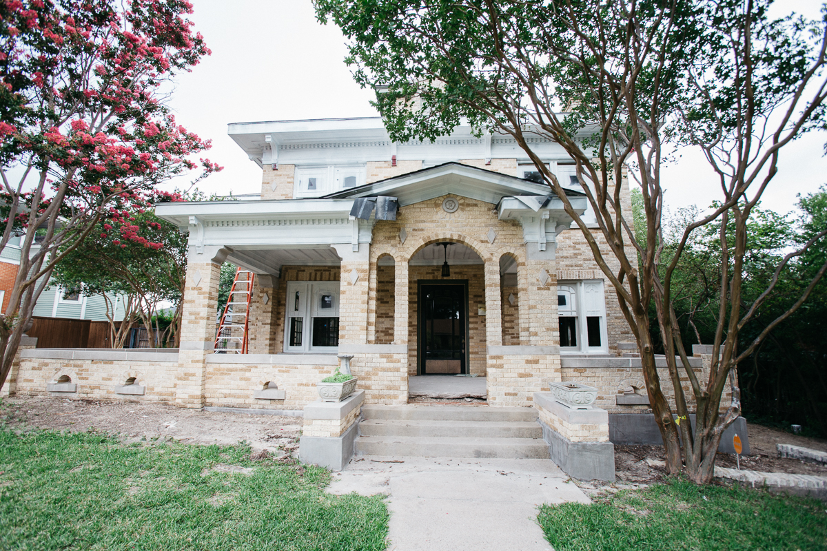 An iconic home right as you hit the downtown McKinney square.