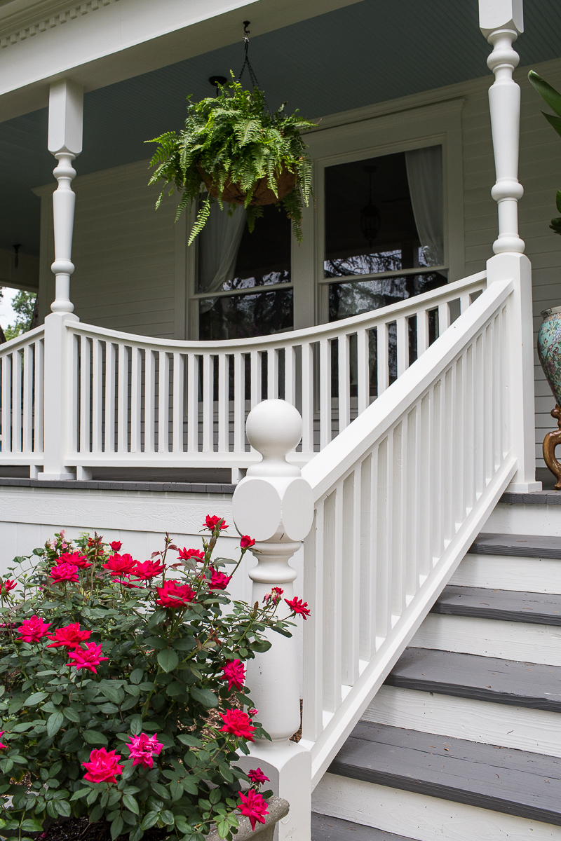 Historic Home White Porch Renovation