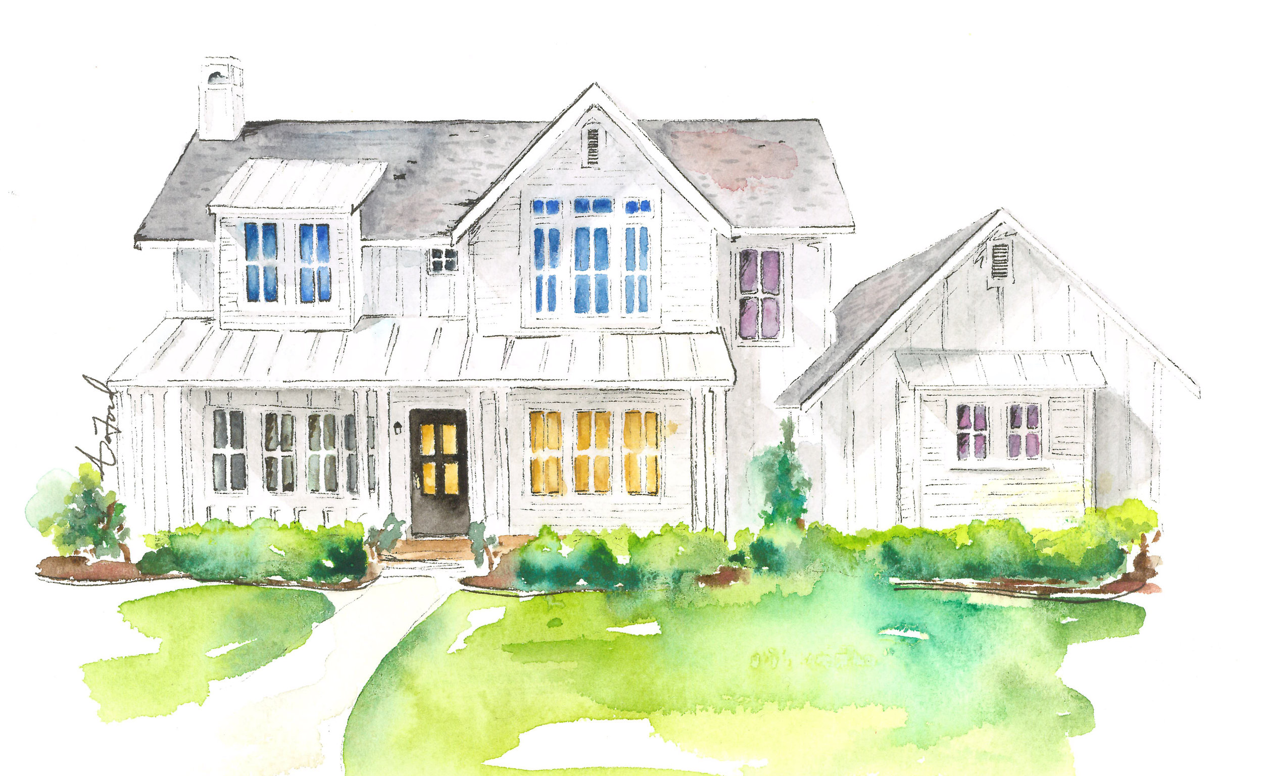 Watercolor by Audrey DeFord