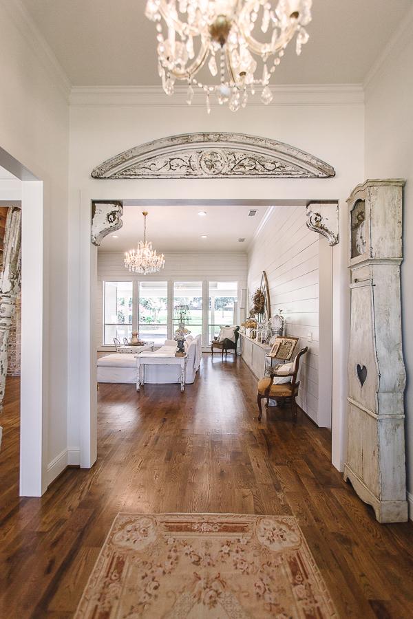 White Cottage Farmhouse Hallway
