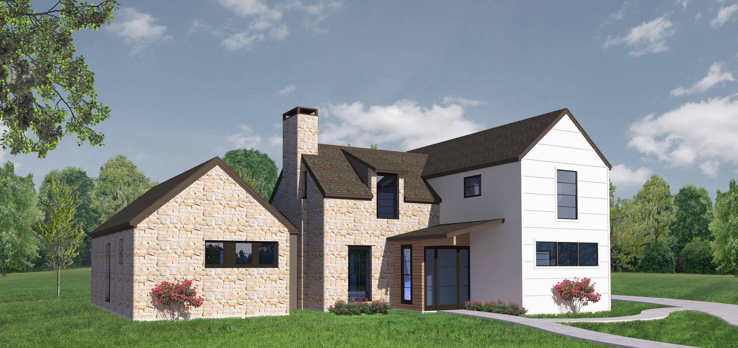 Modern Farmhouse at Gateway Village, Denison.