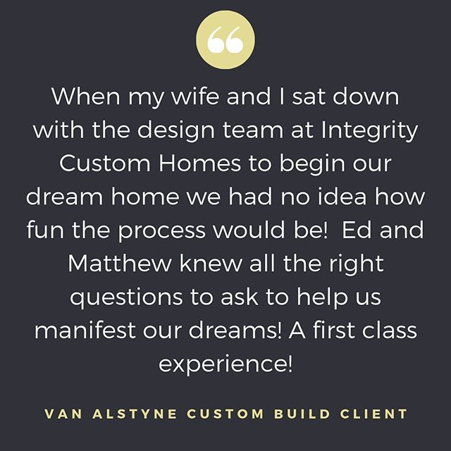 You've worked hard to be able to build a custom home. The process should NOT feel like pulling teeth. It should be FUN and you deserve to get exactly what you want, so by this time next year, you can fully enjoy the fruits of your labor! #letsbuild #customhome