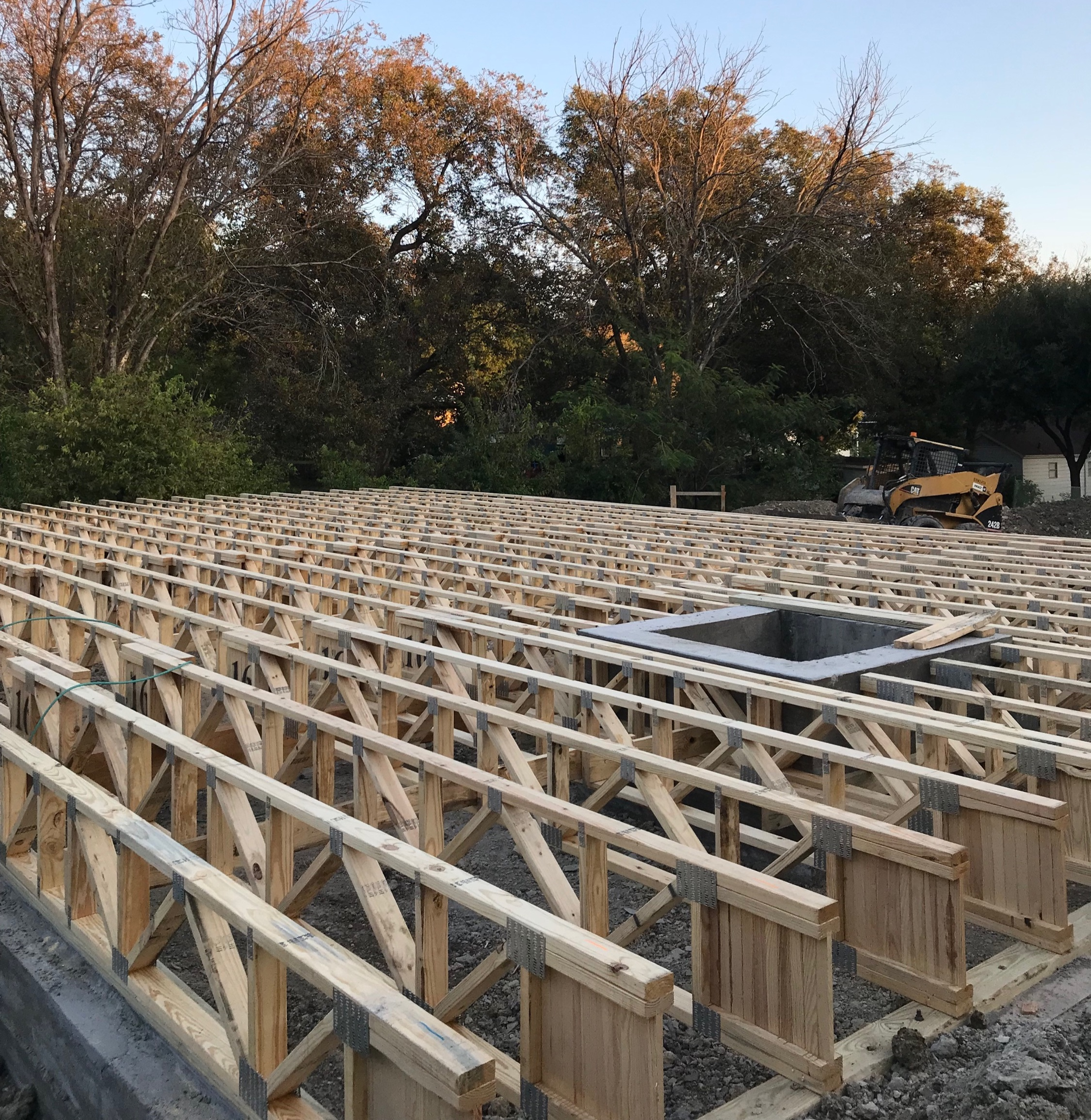 No walls or roof? Yep, it's Phase 2 of the new home build process!