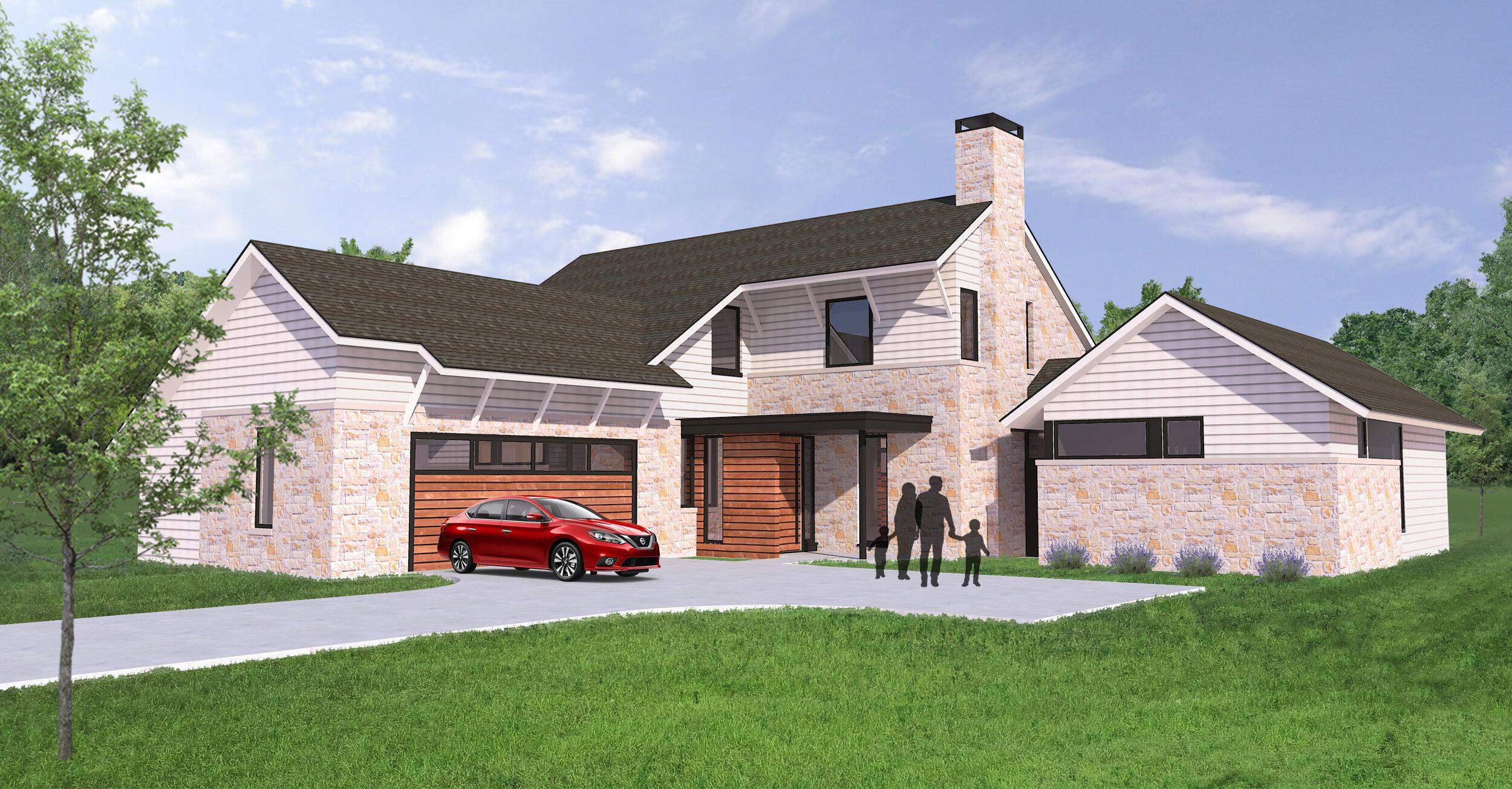 An Integrity Custom semi-custom home designed for  Gateway Village .