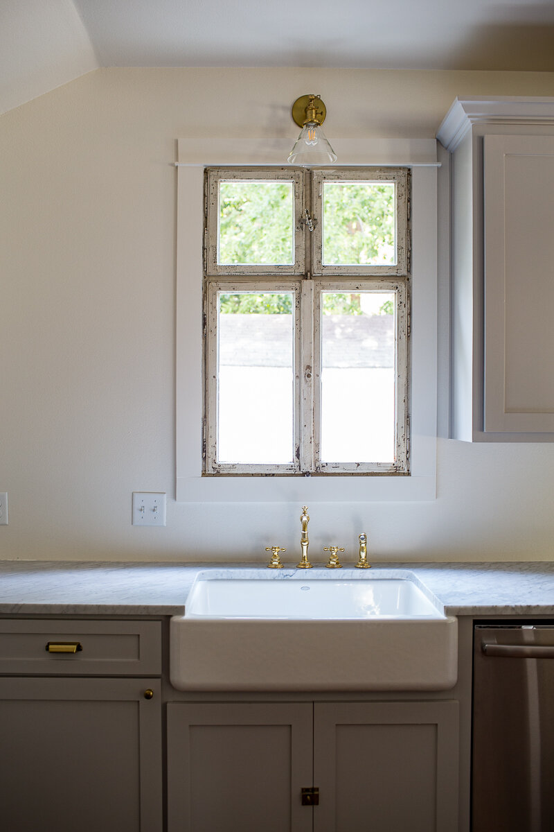 Photography by  Melinda Ortley . Build by  Integrity Homes . Shop salvage window frames online at  east end salvage .