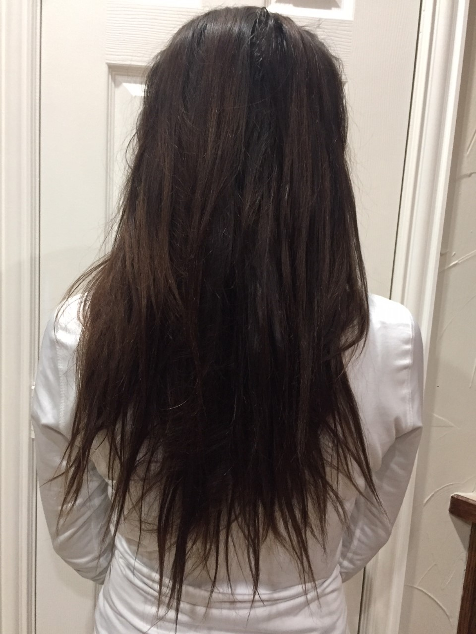 Jan 30, 2018 - Before my first hair trim of the year.I have been trying to wash my hair only every other day instead of every single day like I used to.Instead of drying my hair, I have been letting my hair air dry.I haven't colored or dyed my hair in months.