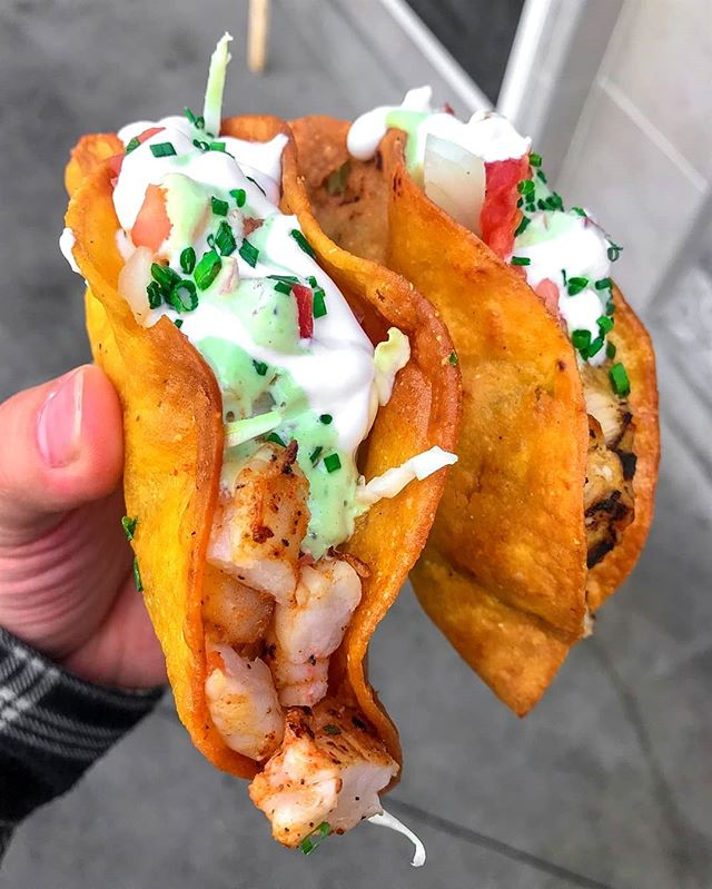 Time for the taco turn up at @portsidefishco with some of these beauties on this #NationalShrimpDay! 🌮🌮 #PortsideFishCo #TRADEIrvine #FoodHall