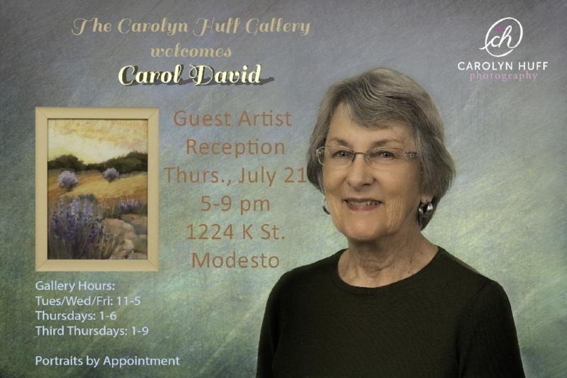 Carol David, Guest Artist at the Carolyn Huff Gallery