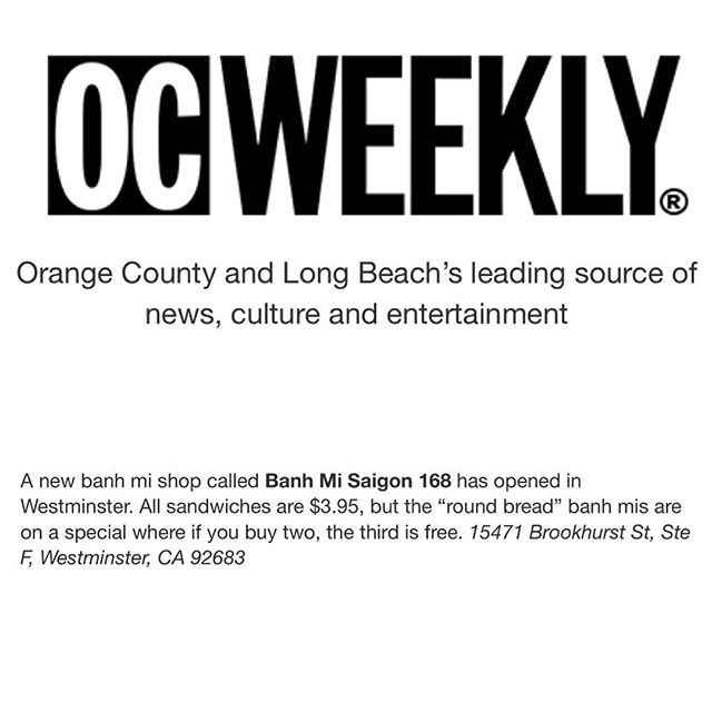 Thank you for the feature, @ocweekly! 💛💛💛