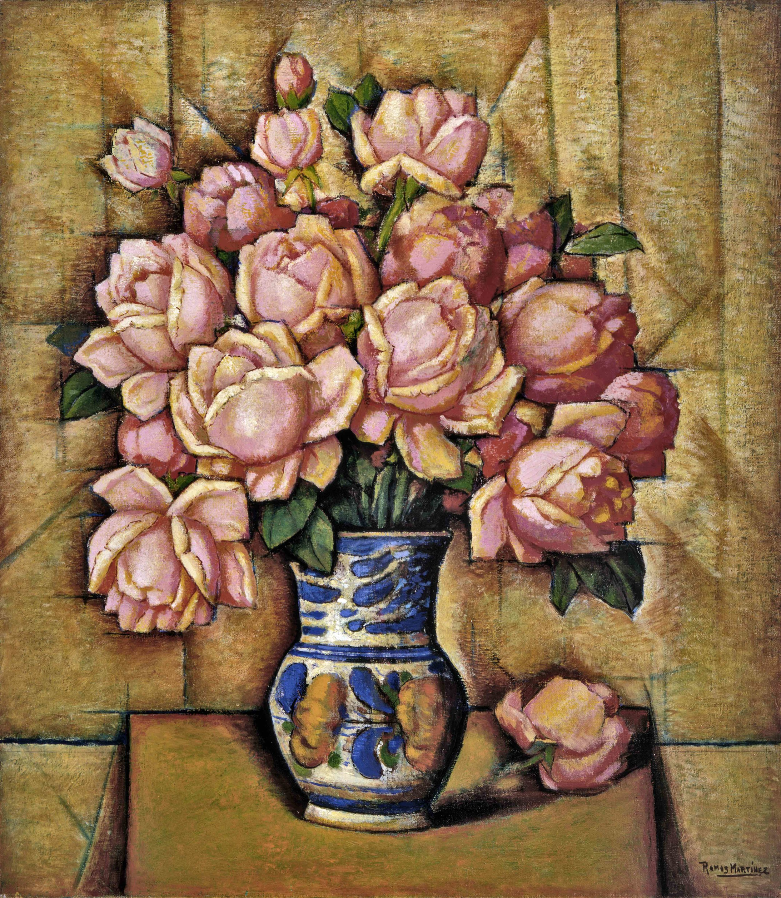 Rosas / Roses  ca. 1930 oil on canvas / óleo sobre tela 21.5 x 27.8 inches / 54.6 x 70.5 centímetros Private collection