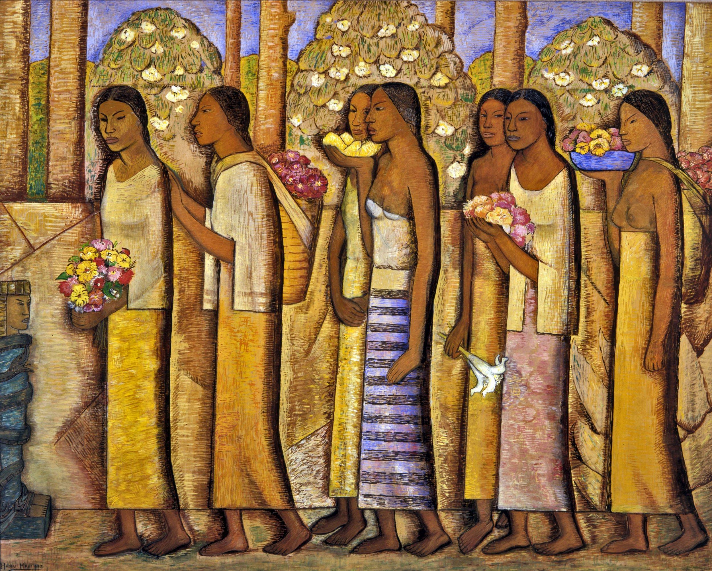 Homenaje a Quetzalcóatl / Homage to Quetzalcoatl  ca. 1940 tempera on paper / temple sobre papel 37 x 45 inches / 94 x 114.3 centímetros Private collection