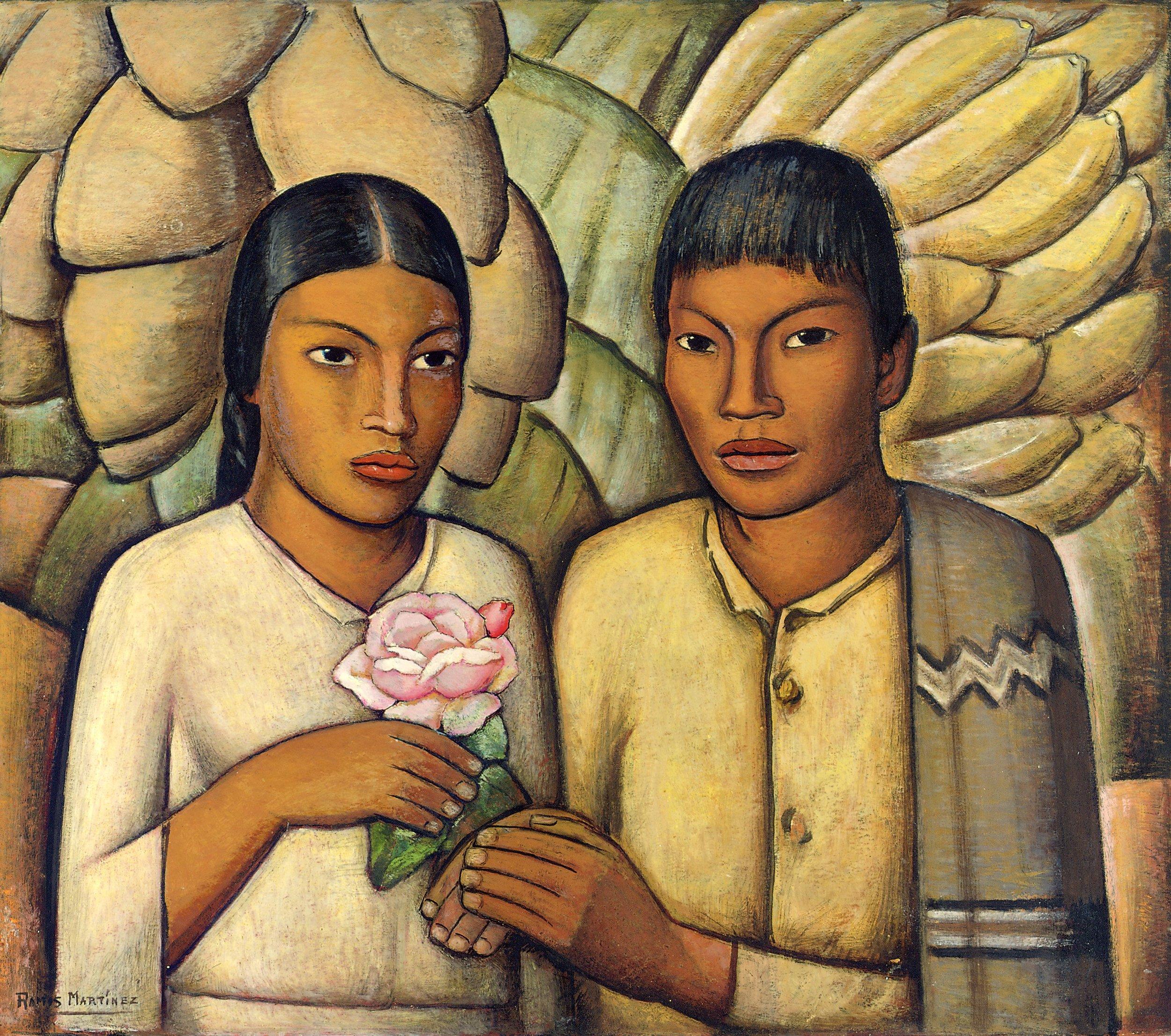 Casamiento Indio / Indian Wedding  1931 oil on canvas / óleo sobre tela 28.3 x 31.8 inches; 71.8 x 80.7 centímetros FEMAS Collection, Mexico