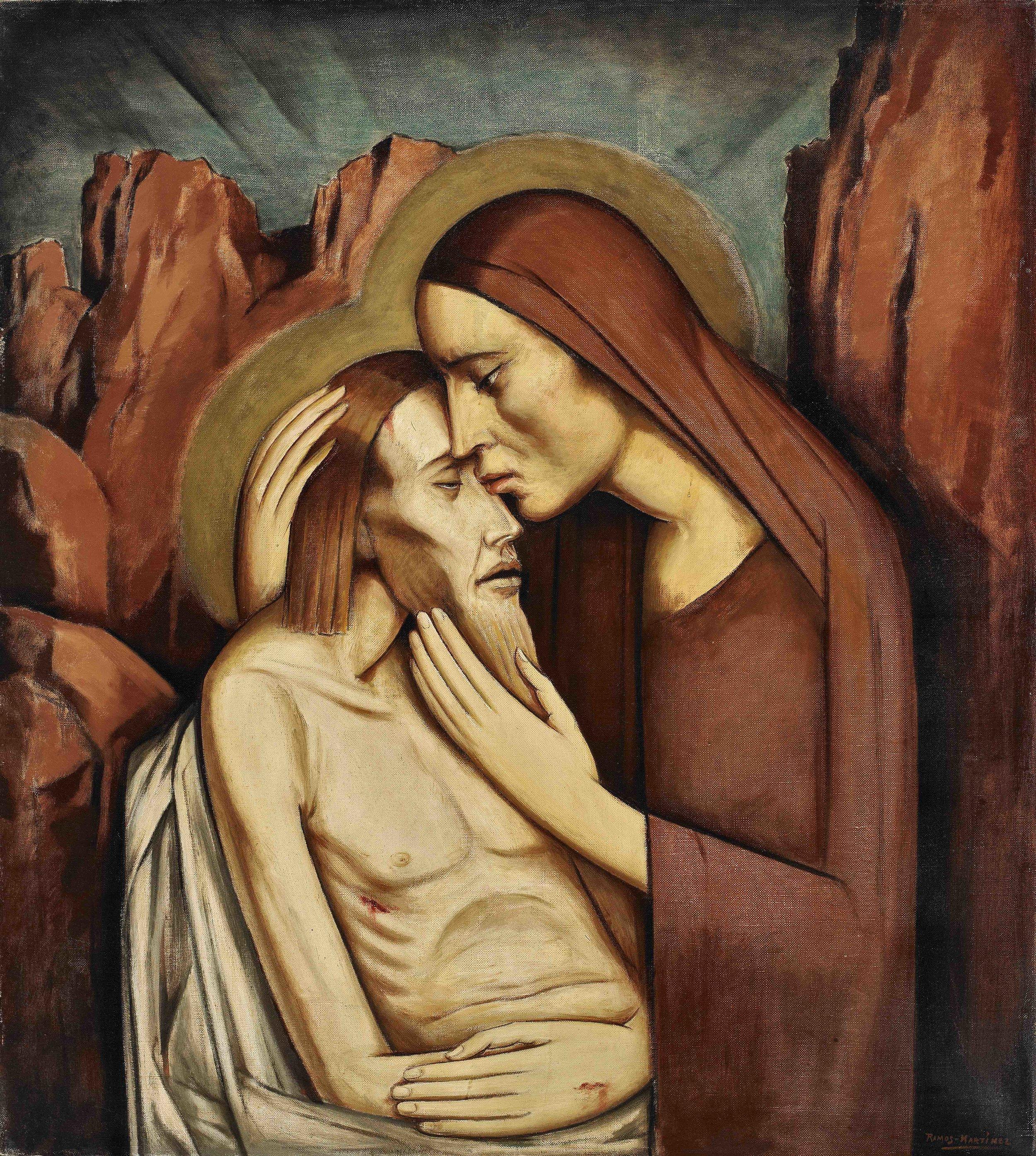 Pietà  ca. 1932 oil on canvas / óleo sobre tela 32 x 28 inches / 81.3 x 71.1 centímetros Private collection