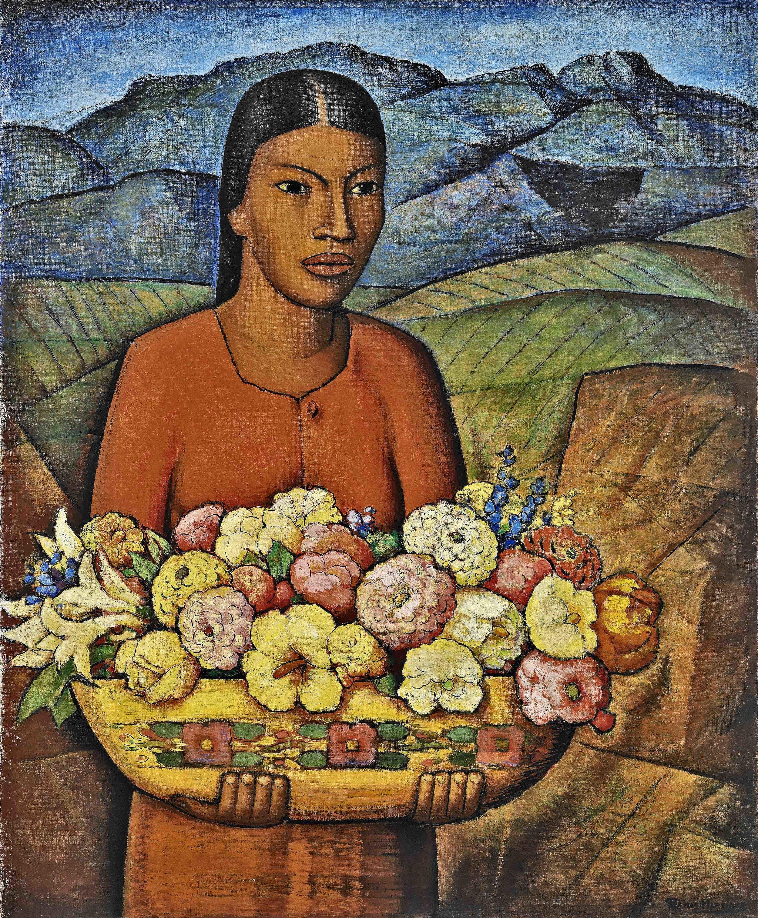 Florida Mexicana  ca. 1936 oil on canvas / óleo sobre tela 36 x 30 inches / 91.4 x 76.2 centímetros Private collection