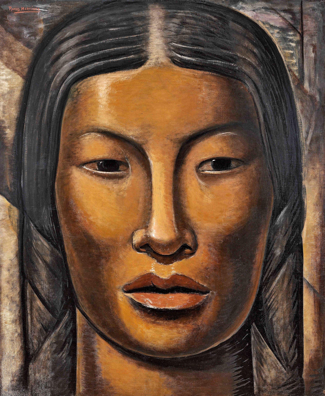 La India Maya / The Mayan Indian Woman  ca. 1936 oil on canvas / óleo sobre tela 44 x 36 inches; 111.8 x 91.4 centímetros Private collection