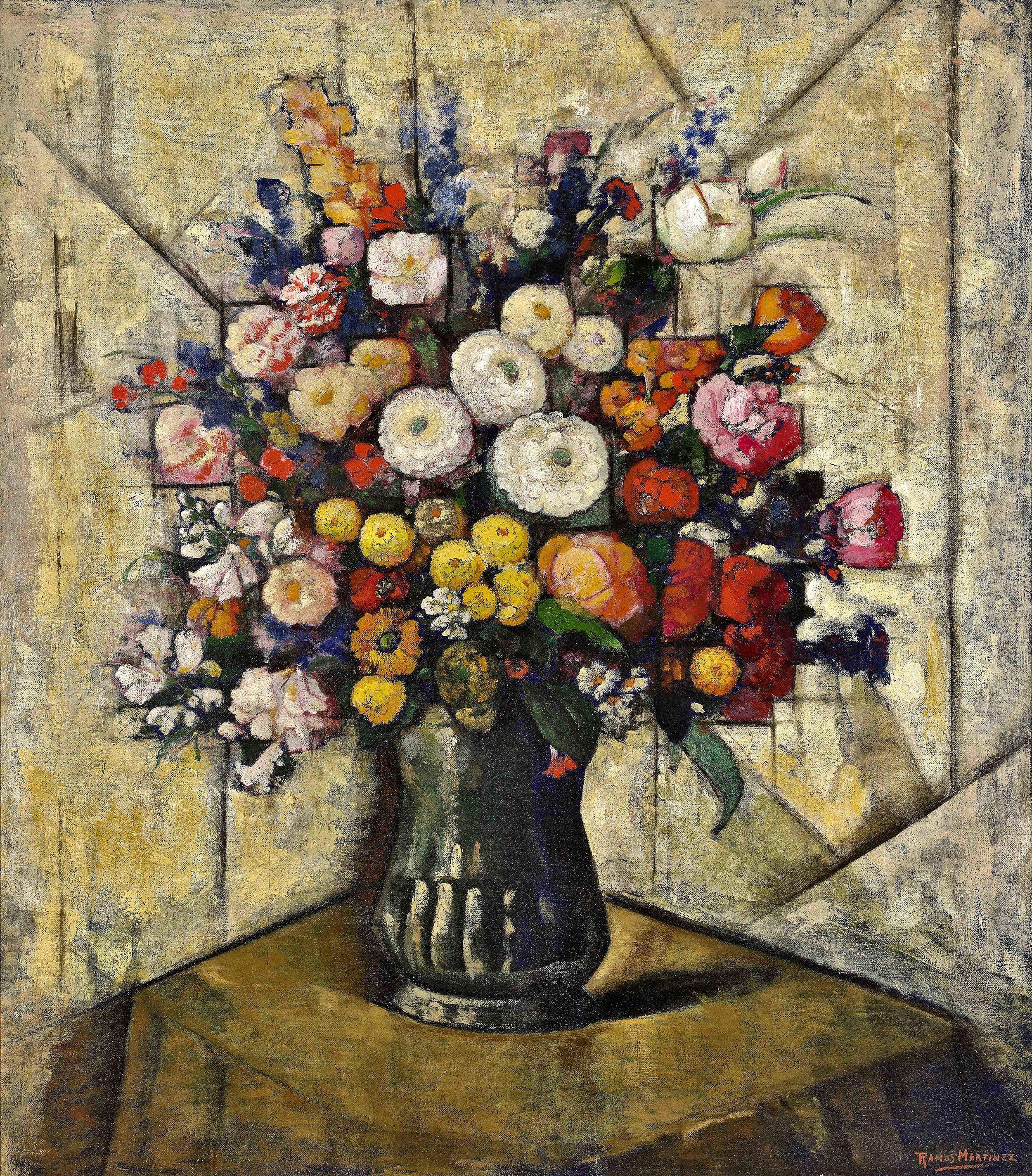 Ramo de Flores / Flower Bouquet  1937 oil on canvas / óleo sobre tela 32 x 28 inches; 81.3 x 71.1 centímetros