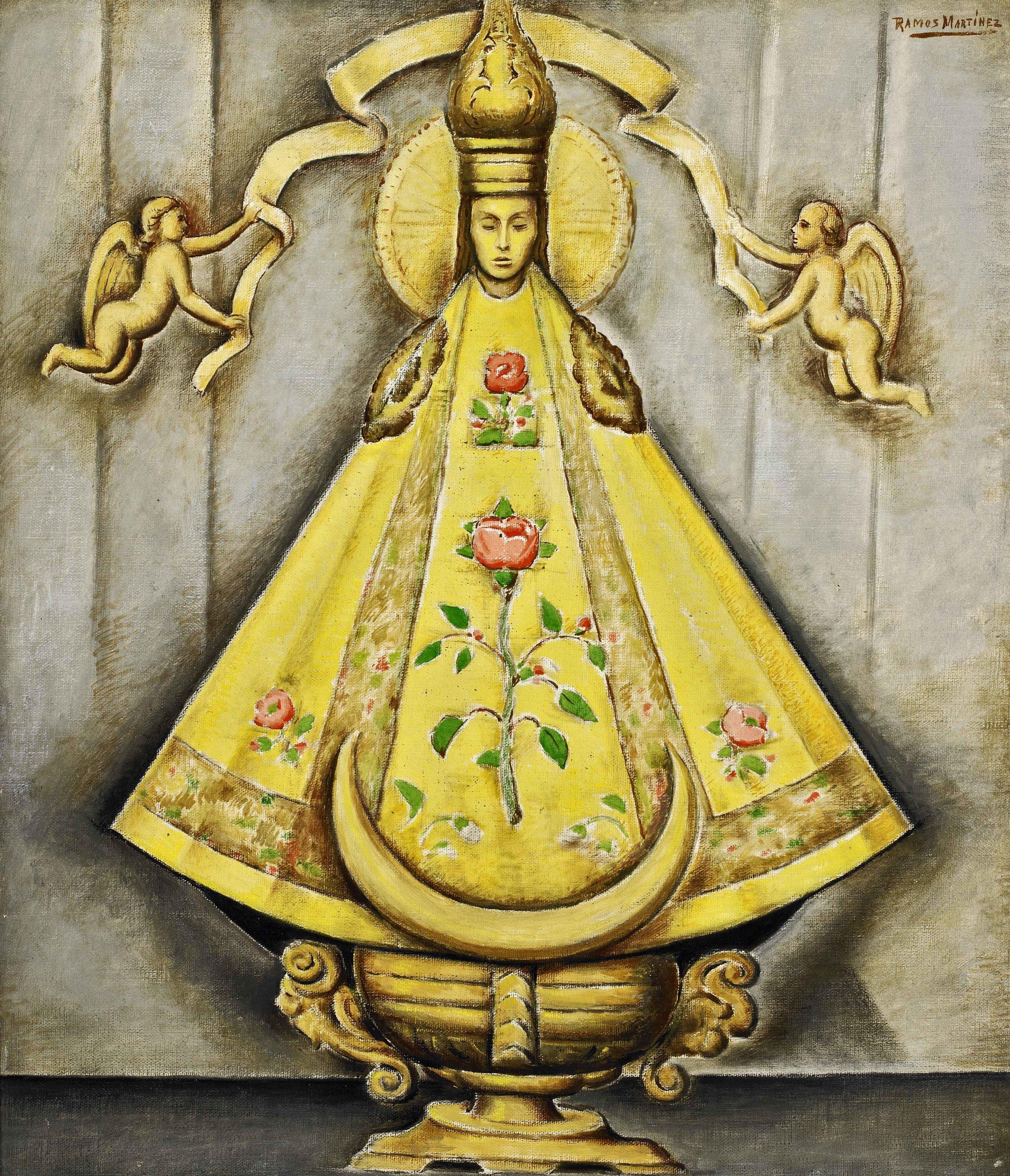 La Madonna Mexicana / Mexican Madonna  ca. 1940 oil on canvas / óleo sobre tela 26 x 22 inches; 66 x 55.9 centímetros Private collection