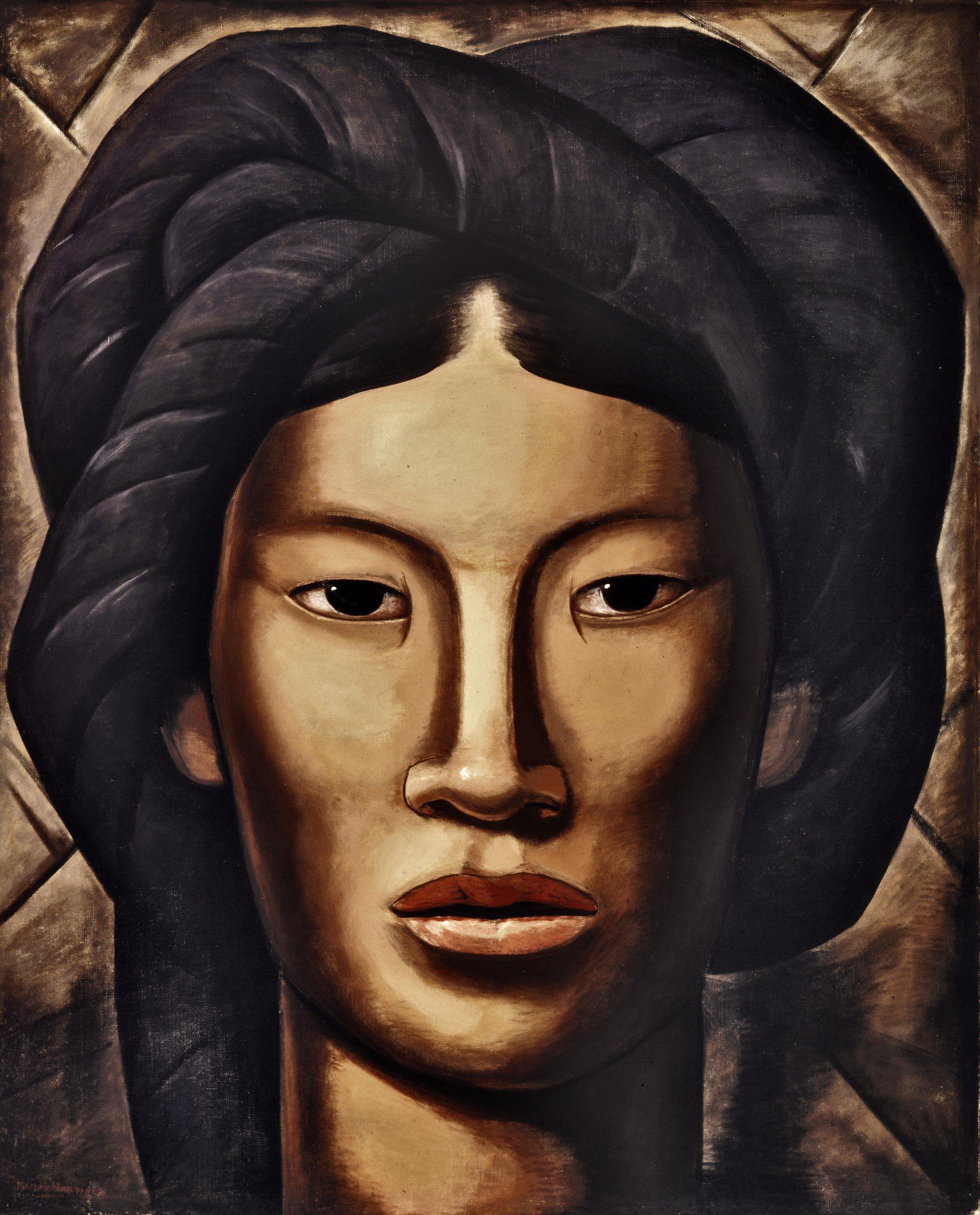 La Malinche / Young Girl of Jalala, Oaxaca  ca. 1940 oil on canvas / óleo sobre tela 50 x 40.4 inches; 127 x 102.6 centímetros Phoenix Art Museum