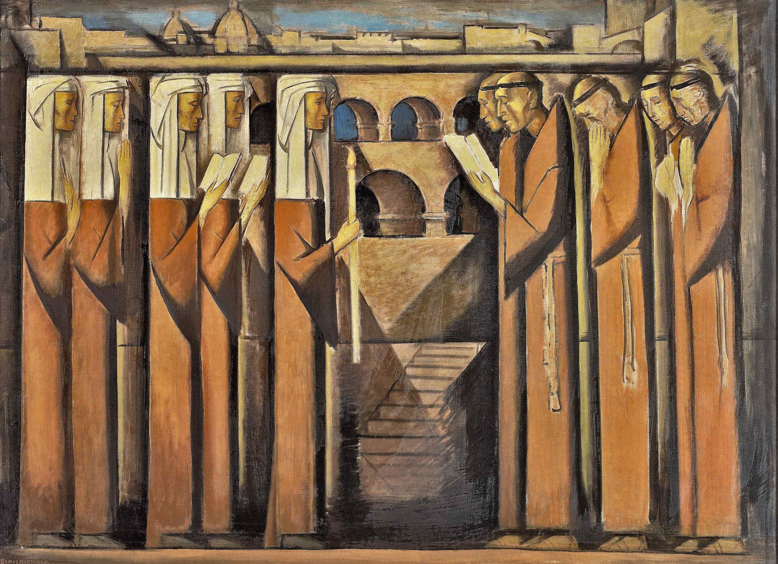 Monjas y Franciscanos / Nuns and Franciscans  ca. 1938 oil on canvas / óleo sobre tela 30 x 40 inches; 76.2 x 101.6 centímetros
