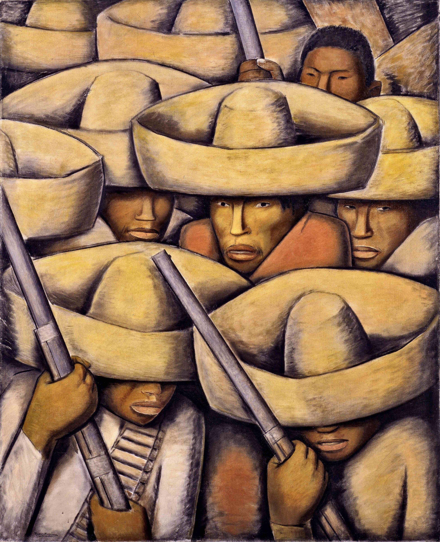 Zapatistas  ca. 1932 oil on canvas / óleo sobre tela 49.5 x 39.5 inches; 125.7 x 100.3 centímetros San Francisco Museum of Modern Art