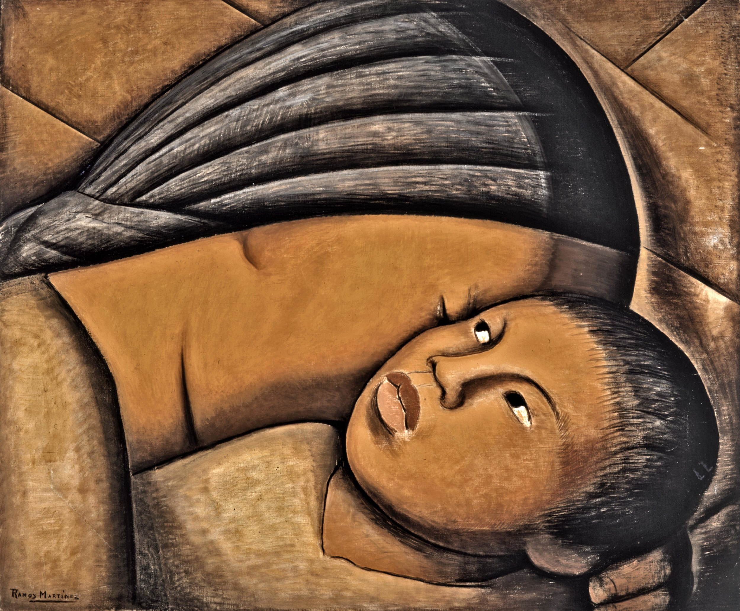 Madre / Mother  ca. 1930  oil on canvas / óleo sobre tela 38 x 46 inches; 96.5 x 116.5 centímetros Private collection
