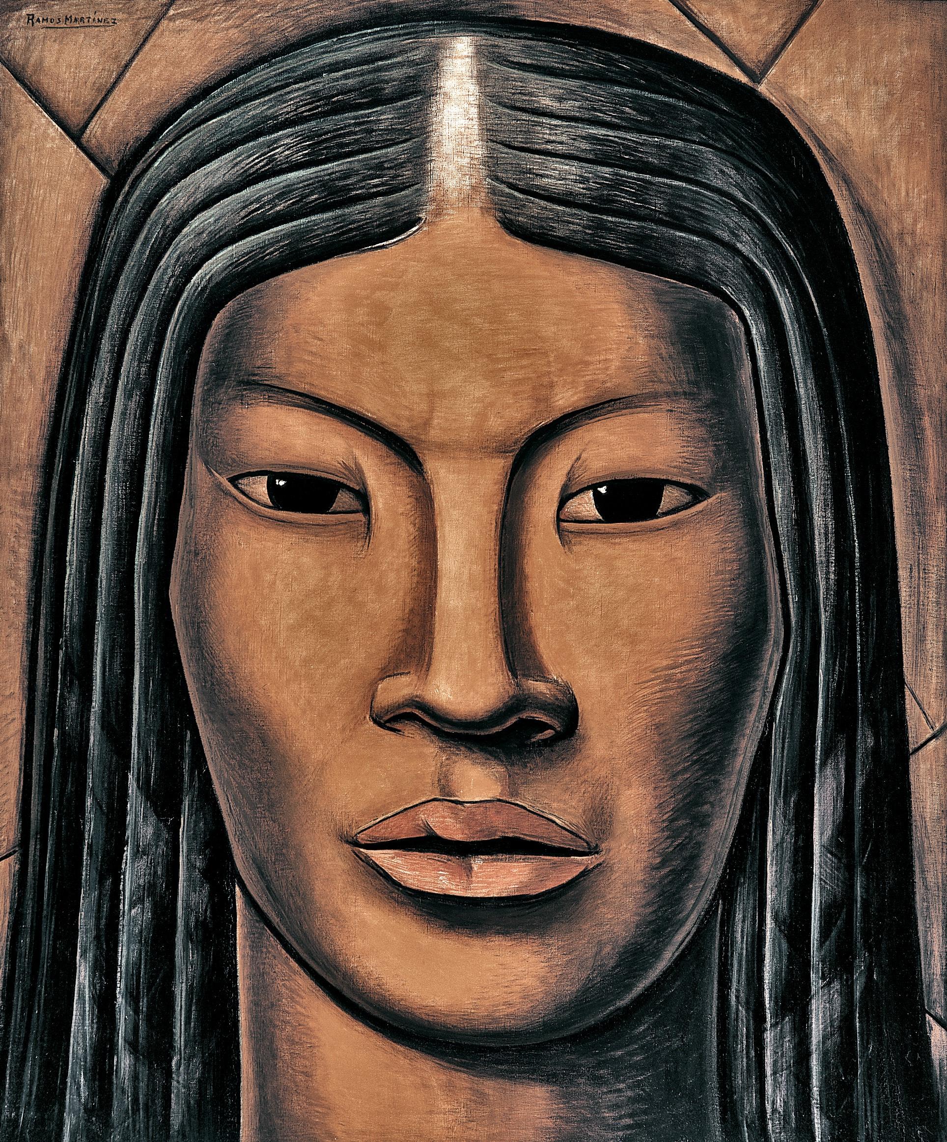 La Malinche  ca. 1930 oil on canvas / óleo sobre tela 46 x 38 inches; 116.84 x 96.5 centímetros