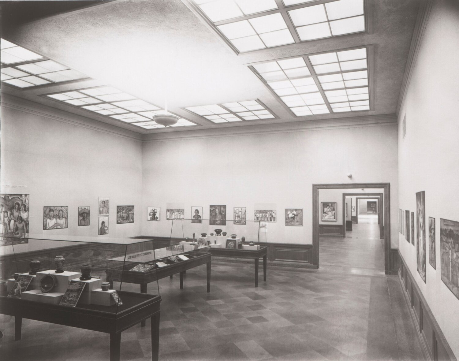 Exhibition of work by Ramos Martinez at the Los Angeles Museum of History, Science and Art, Exposition Park, 1931.