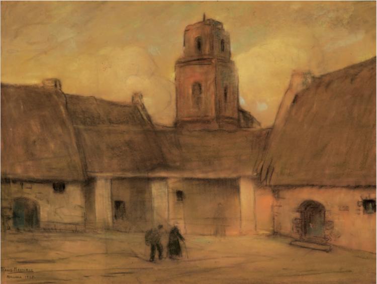 Mallorca  1908, pastel on paper / pintura al pastel sobre papel  24.02 x 34.3 inches; 61 x 87 centímetros Private Collection / Colección Privada