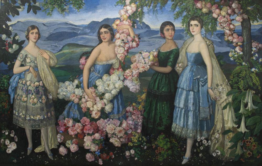 Flores Mexicanas  1929 oil on canvas / óleo sobre tela 108 x 144 inches; 274.3 x 365.8 centímetros Missouri History Museum